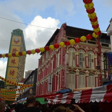Chinatown Wet Market  in der Löwenstadt Singapur