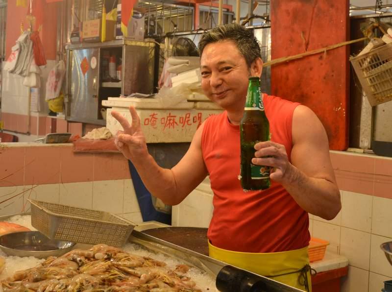Fischhändler Singapur