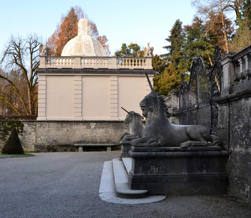 Einhörner im Mirabellgarten