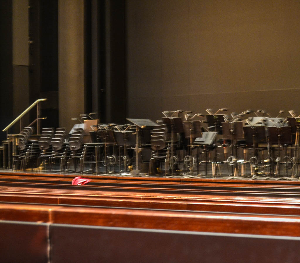 Bühne mit Sesseln