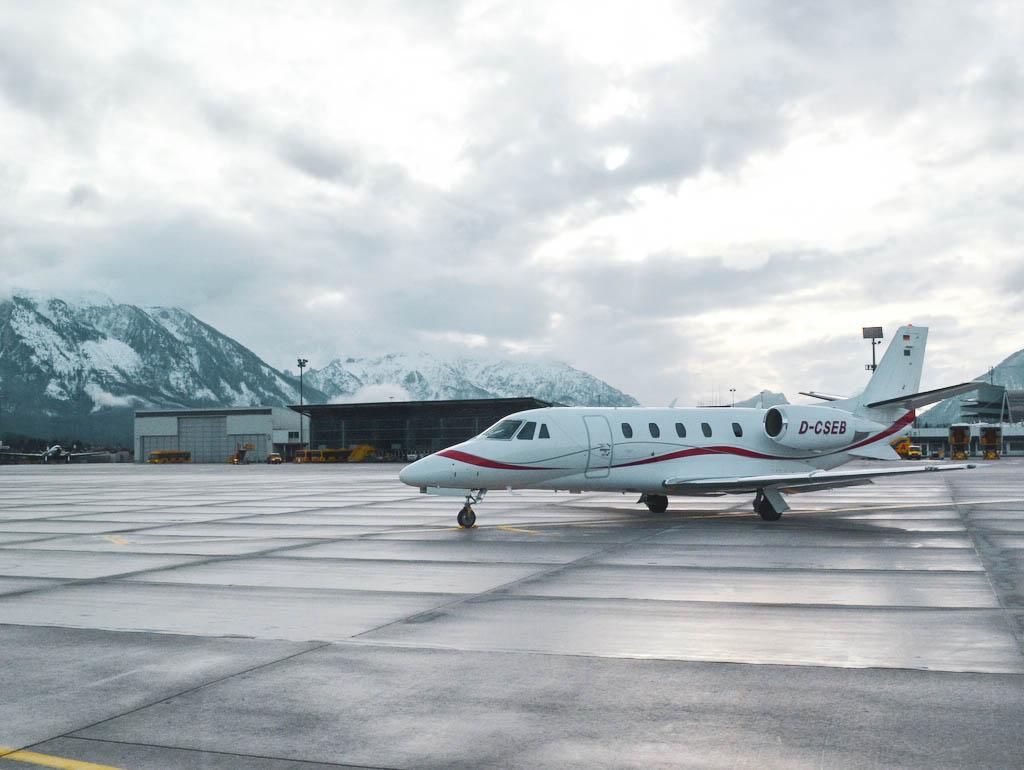 Privatflugzeug Flughafen Salzburg
