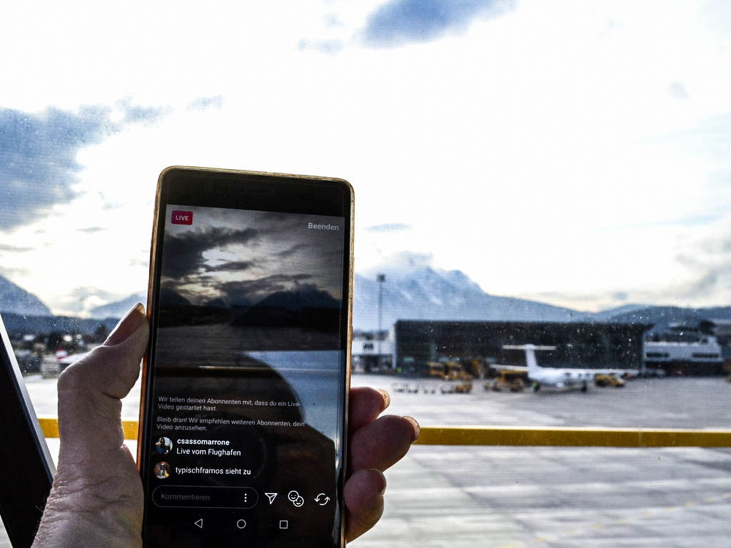 Handyvideo Flughafen