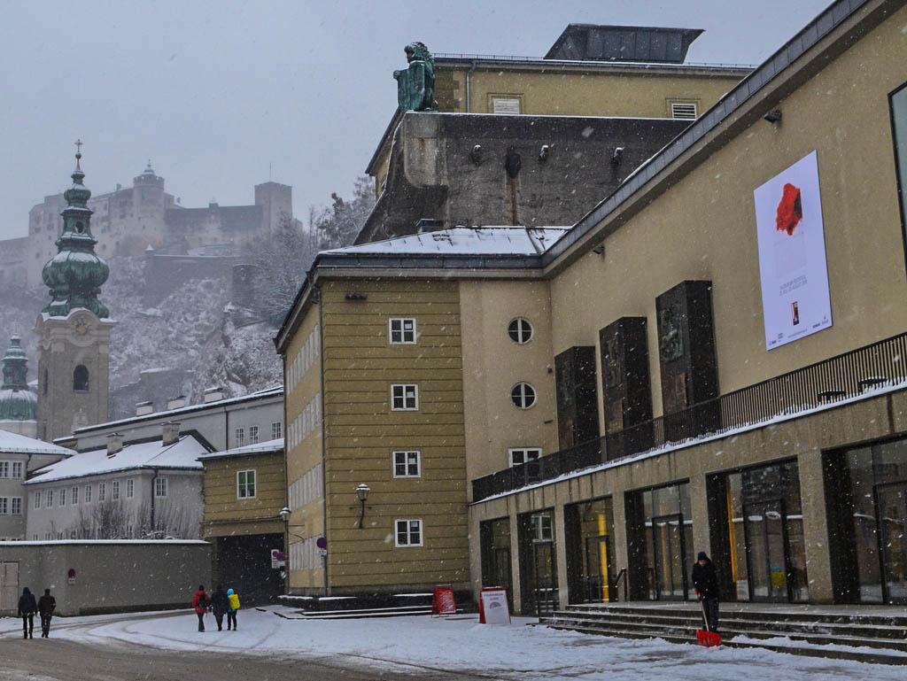 Kleines Festspielhaus Salzburg im Winter