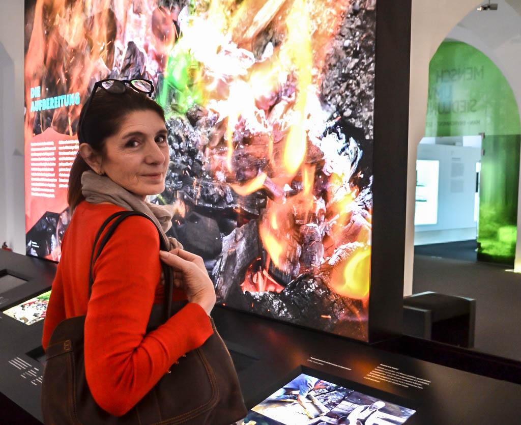 Claudia Braunstein im Keltenmuseum