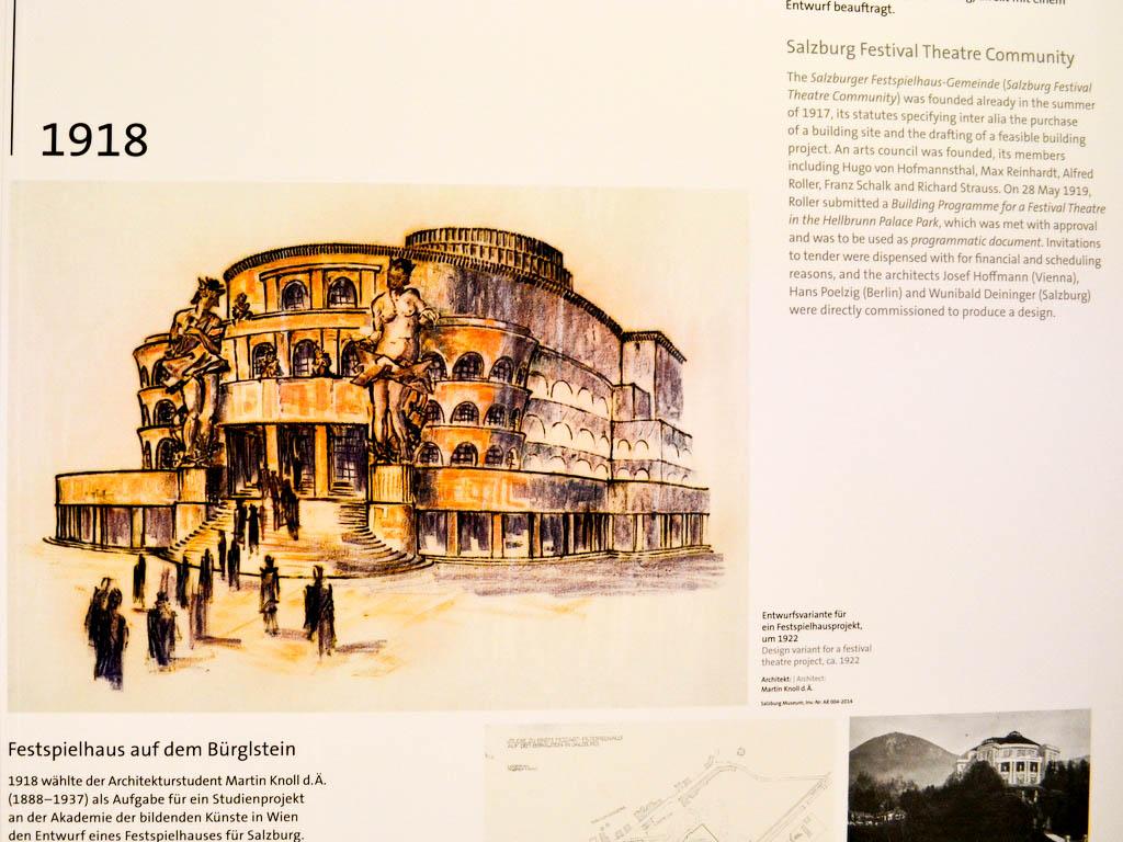 Plan Festspielhaus am Bürgelstein in Salzburg