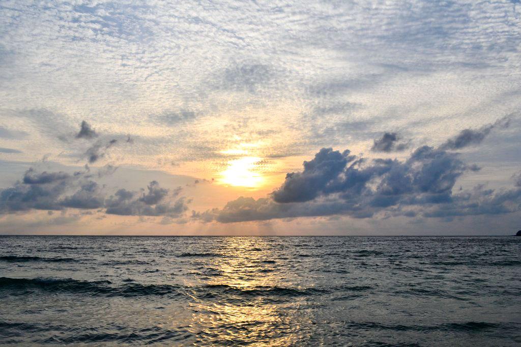 Sonnenaufgang im Hotel Buri Rasa Phanagn
