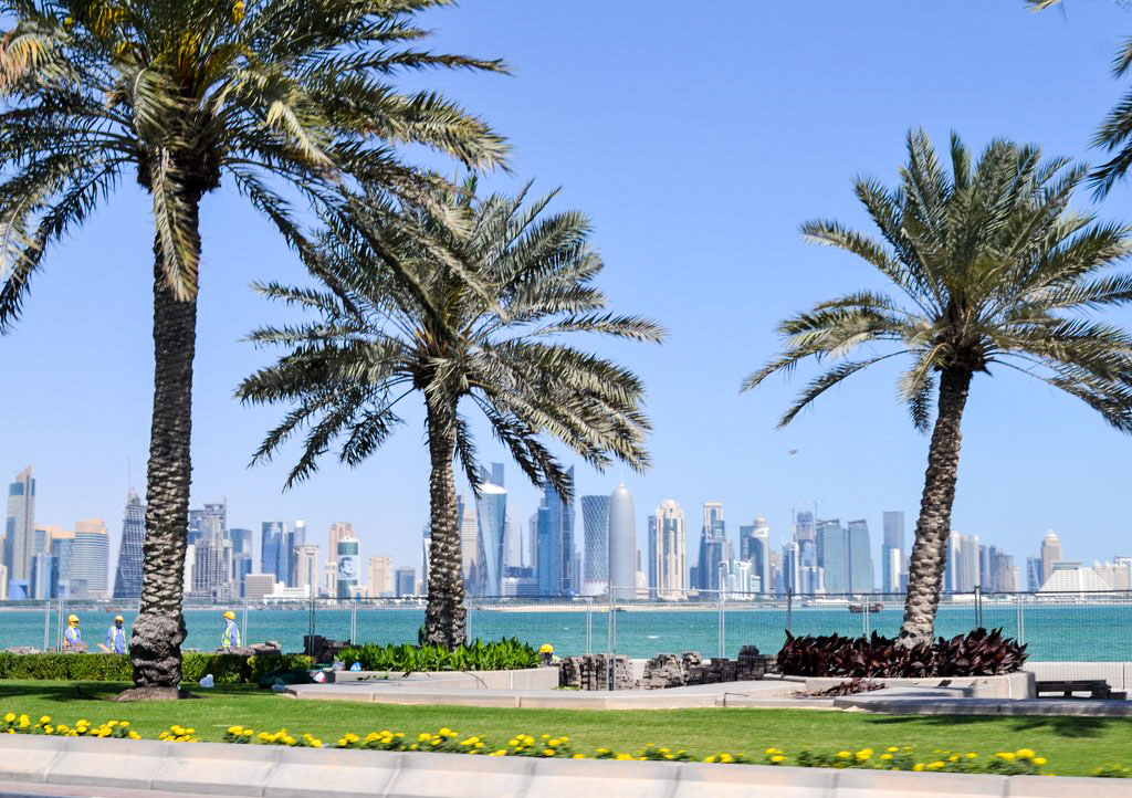 Corniche mit West Bay in doha
