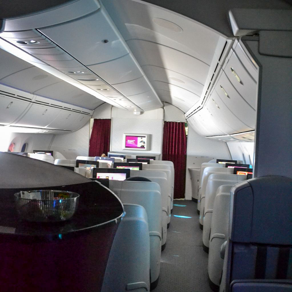 Businessclass von Qatar Airways