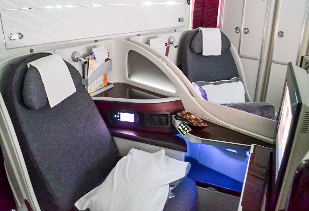 Sitze in der Businessclass von Qatar Airways