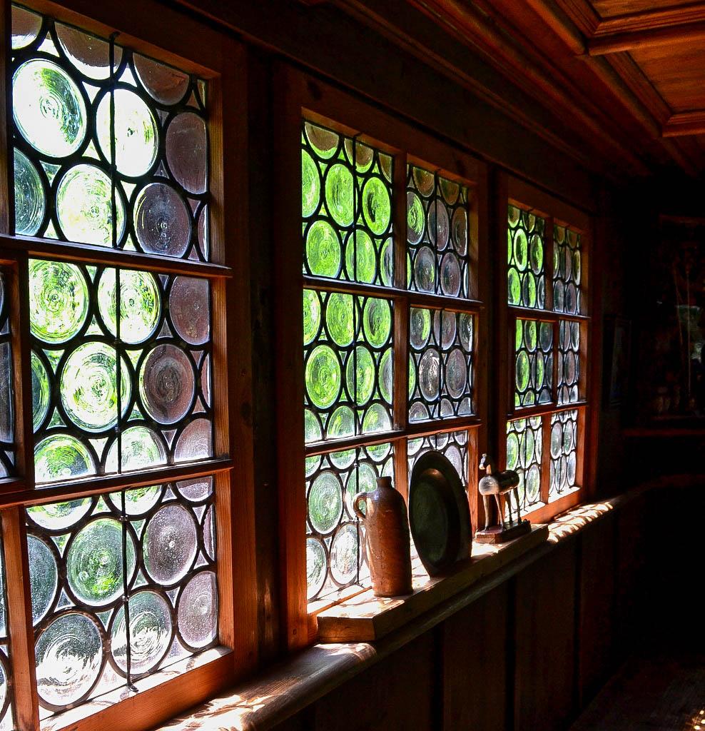 Fenster in einem Bauernhaus