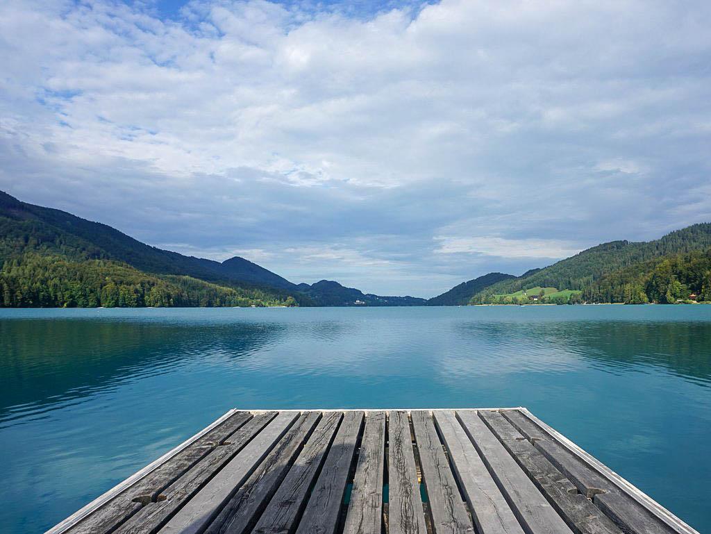 Holzsteg in Fuschl am See