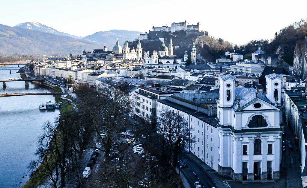 Blick auf die Altstadt von Salzburg