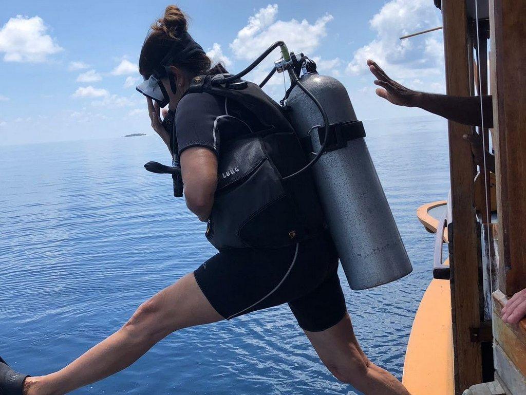Claudia Braunstein tauchen auf den Malediven