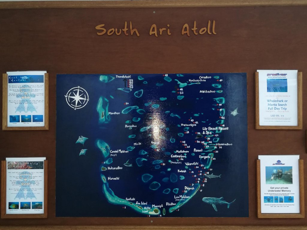 Karte Süd Ari Atoll