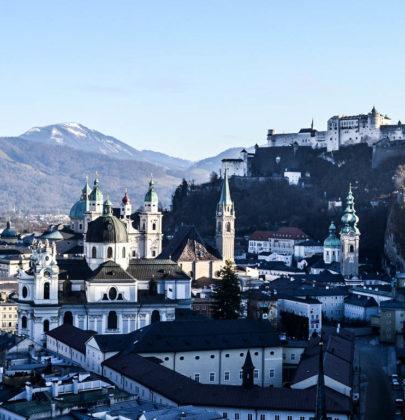 Bilder aus Salzburg; über den Mönchsberg nach Mülln