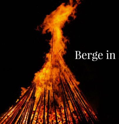 Berge in Flammen