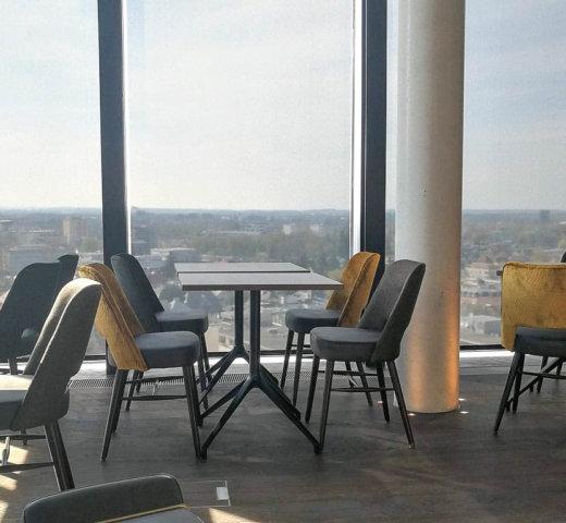 Was für ein Blick über die Stadt Salzburg! hu:goes14 im arte Hotel