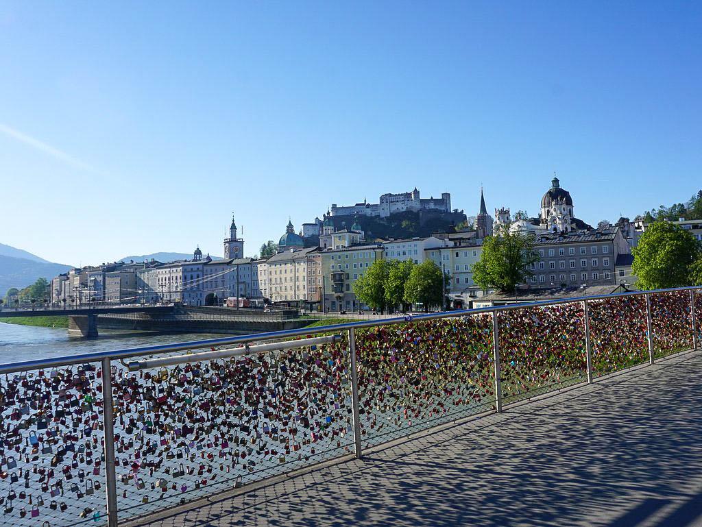 Makartsteg, blick auf die Salzburger Altstadt