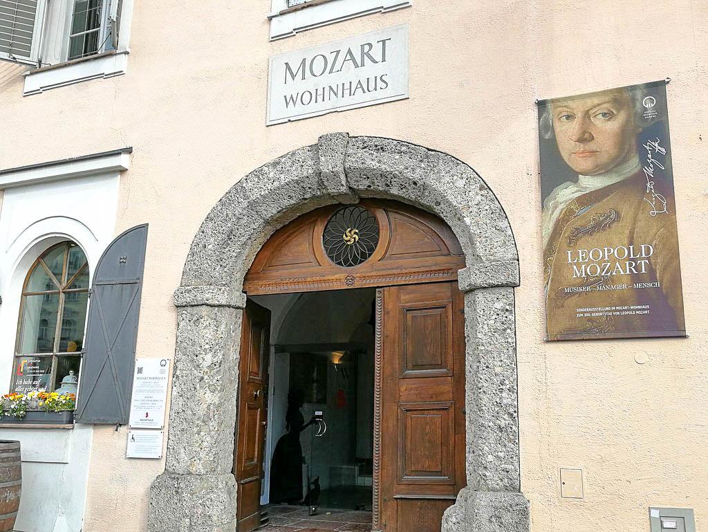 Eingang Mozart Wohnhaus