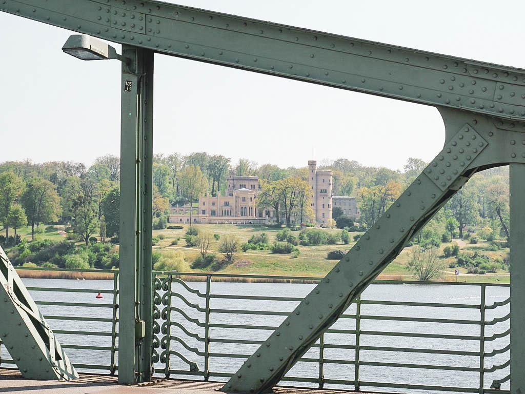 Blick auf Schloss Babelsberg