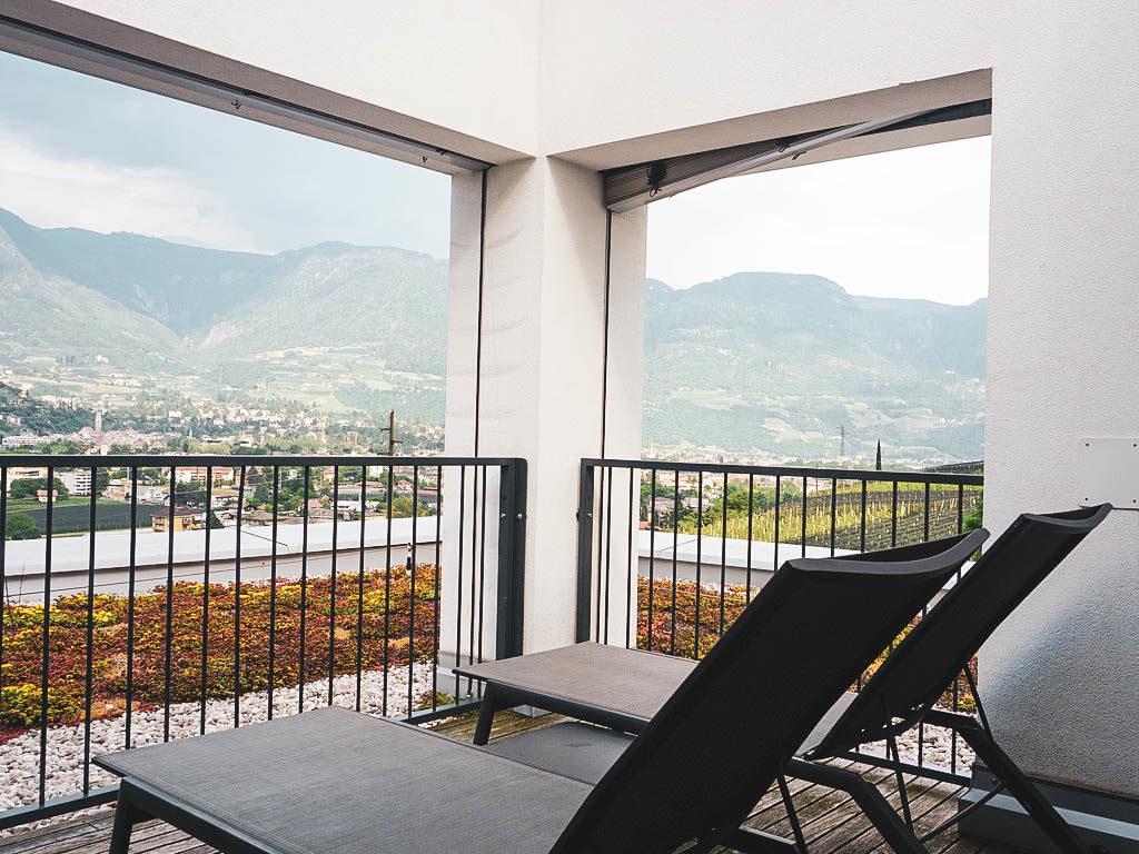 Terrasse in der Suite im Pazeider