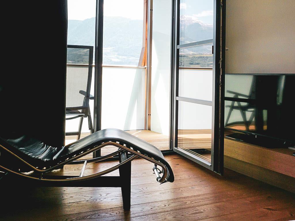 Zimmer mit Blick auf Meran