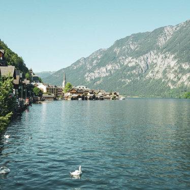 Sommerfrische im Salzkammergut; Ausflug an den Hallstätter See