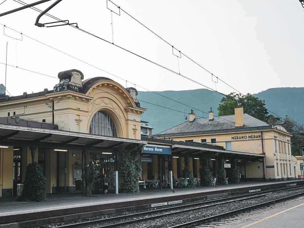 Bahnhof in Meran