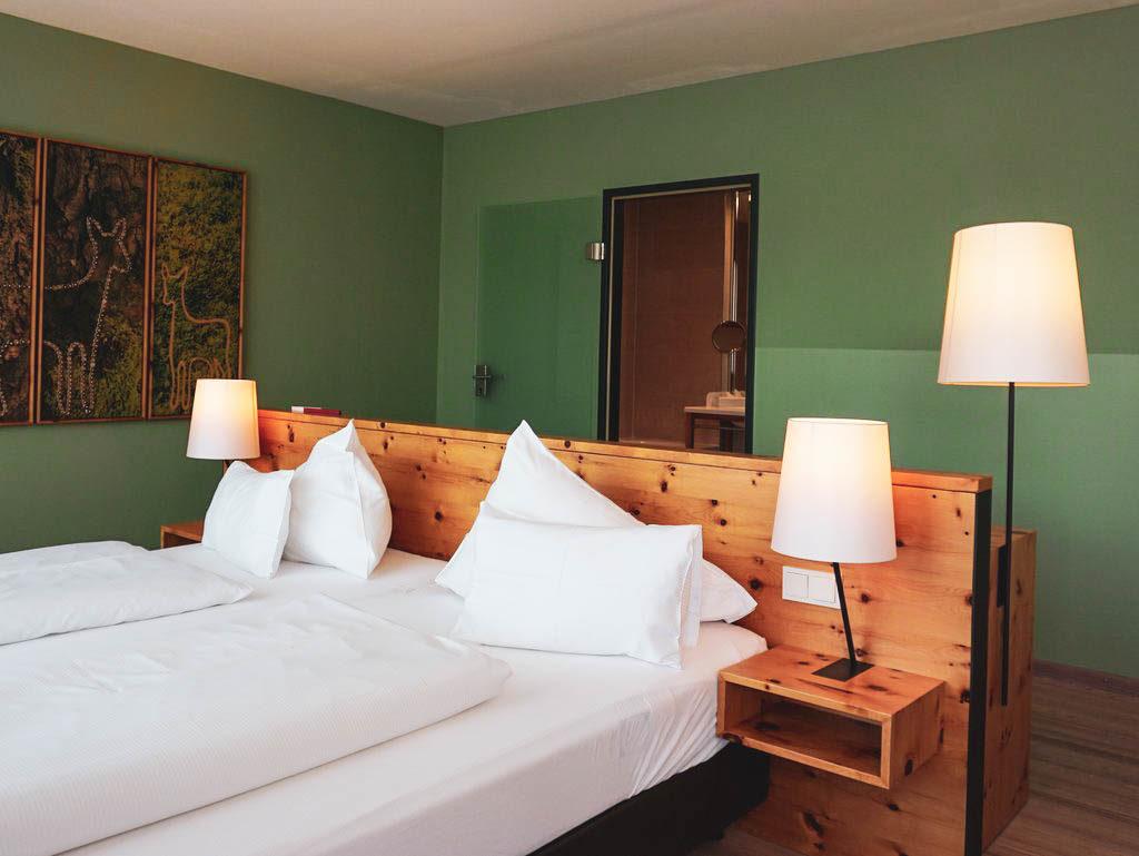 Bett in der Panoramasuite Villa Seilern