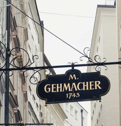 Salzburger Traditionsbetriebe; der Gehmacher