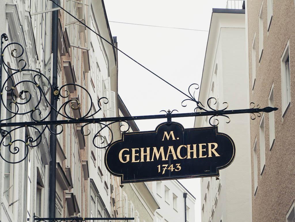 Firmenschild Gehmacher