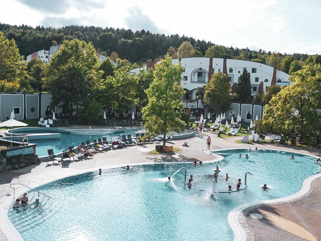 Außenbecken Rogner Bad Blumau