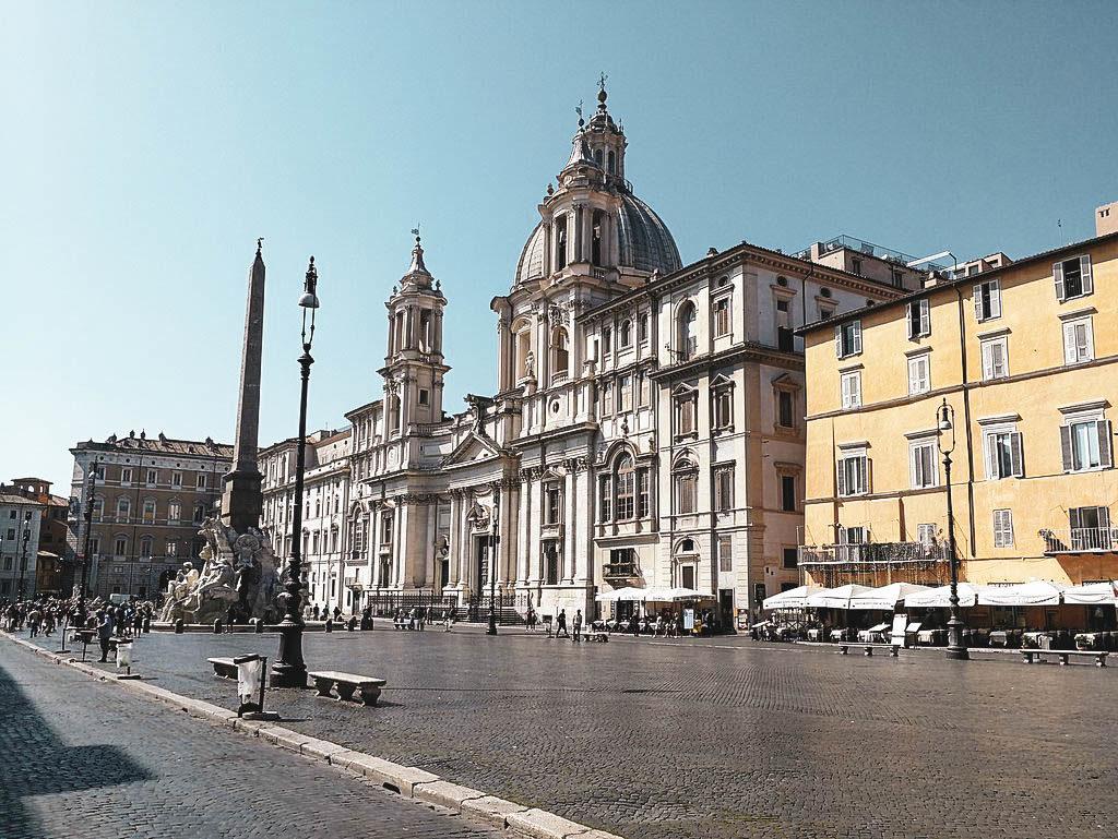 Piazza Navona in Rom, Städtereisen im Frühling