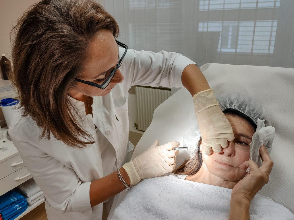 Behandlung mit Hyaluron Filler