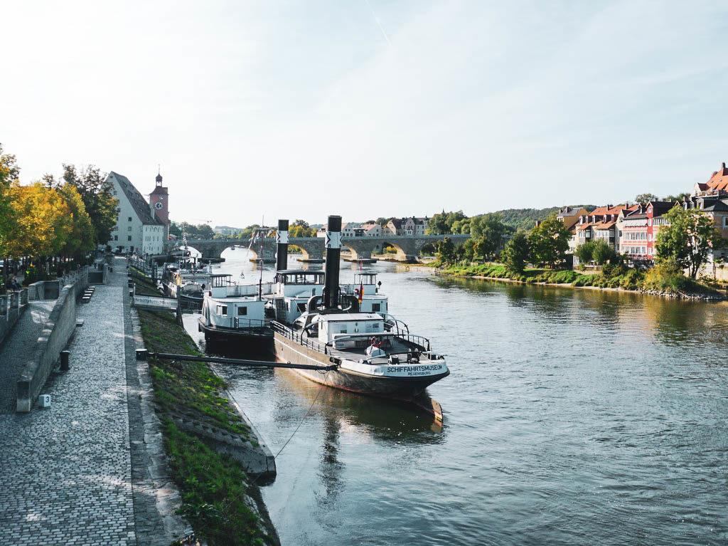 Schiffe in Regensburg