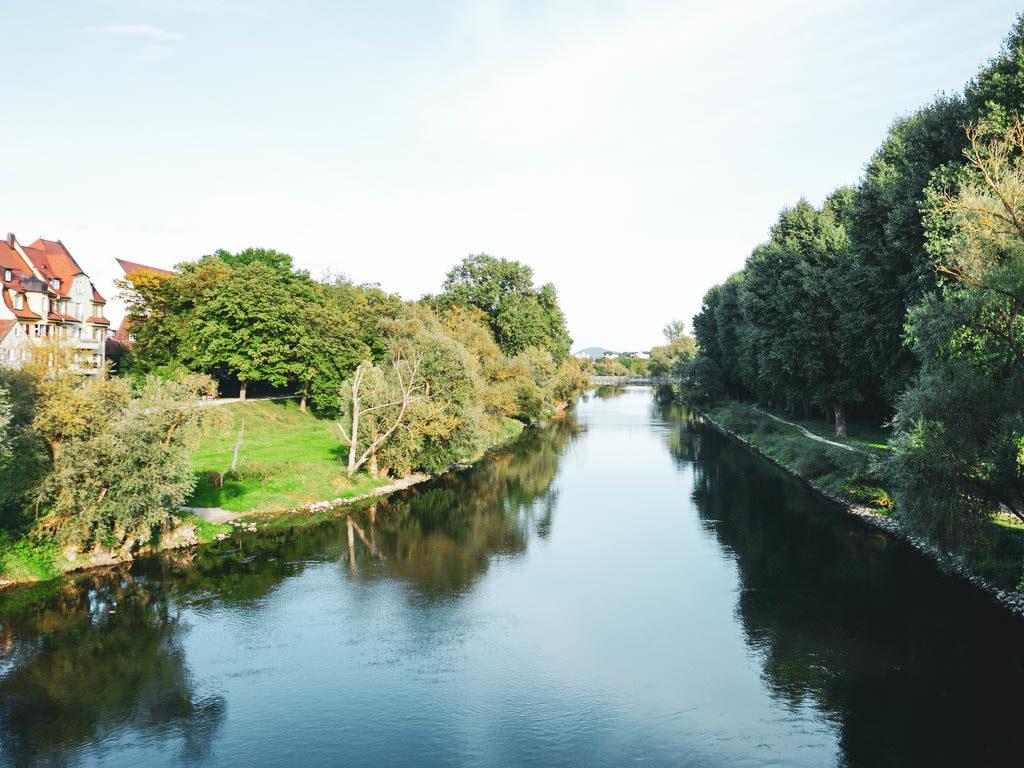 Uferlandschaft in Regensburg