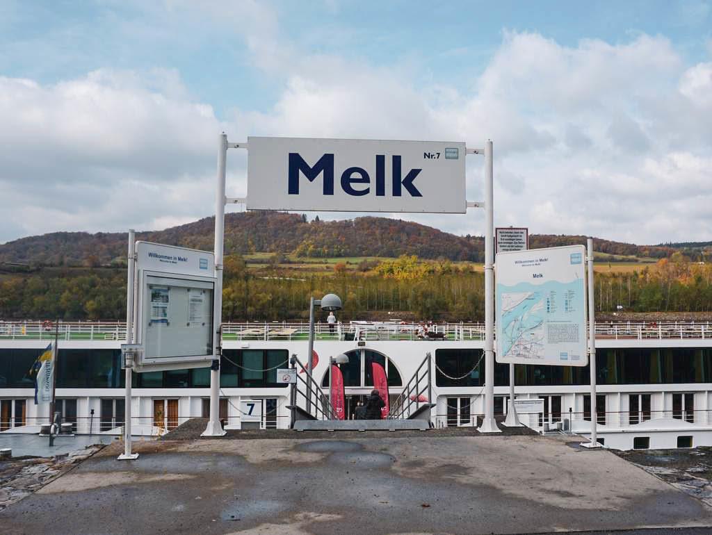 Anlegestelle in Melk