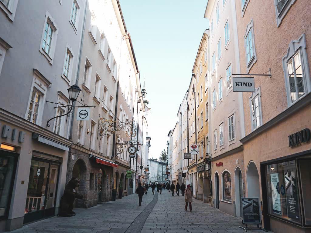 Linzergasse in der Salzburger Neustadt
