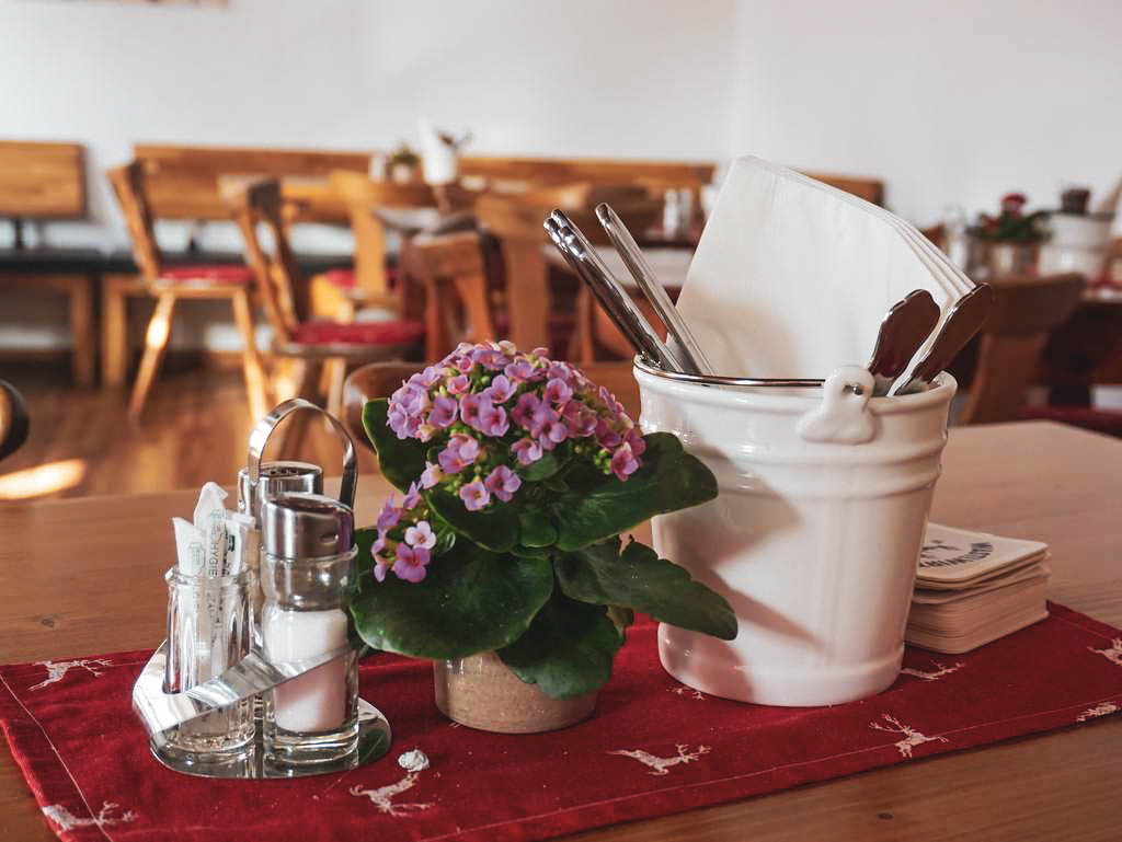 Tischdekoration im Wastlwirt