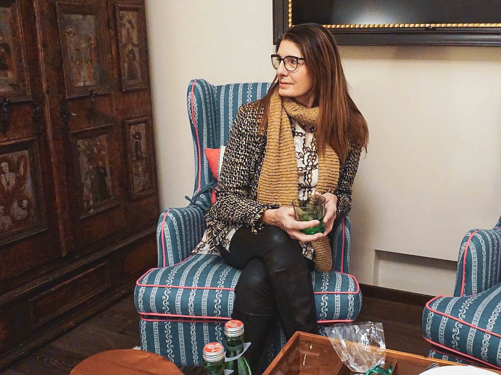 Claudia Braunstein im Hotel Goldener Hirsch