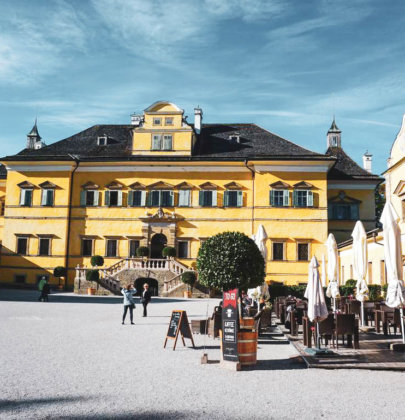 Bilder aus Salzburg; Spaziergang durch Hellbrunn