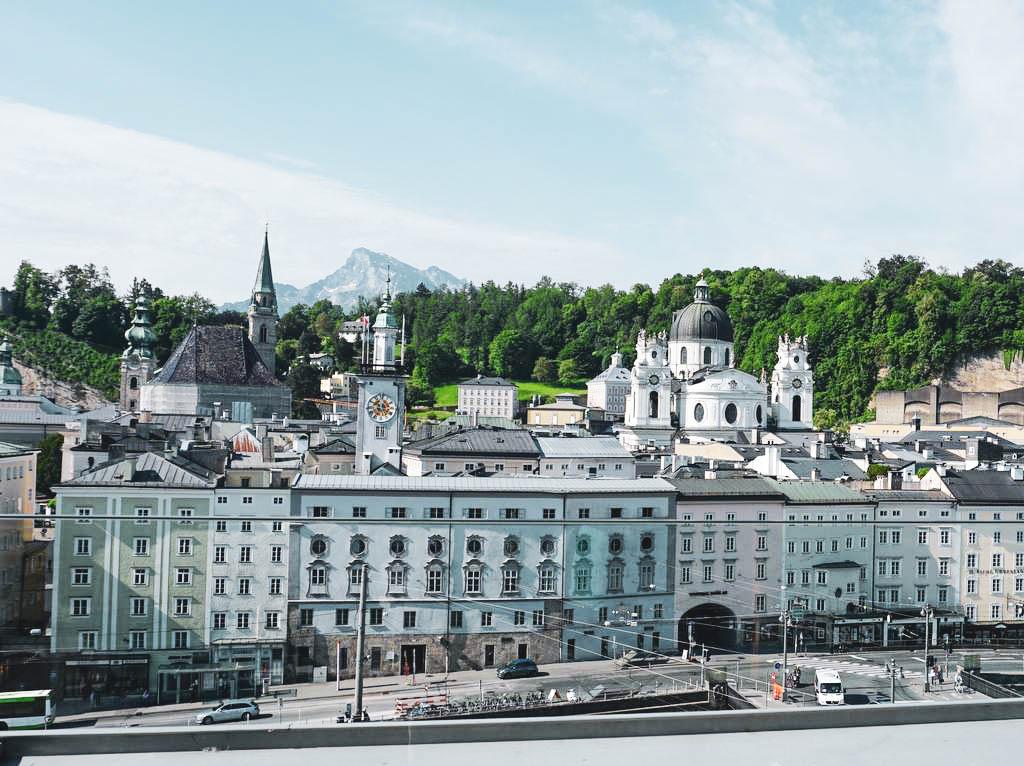 Blick auf die Salzburger Altstadt