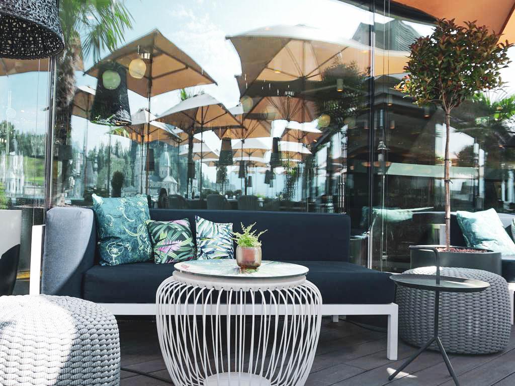 Loungebereich Steinterrasse