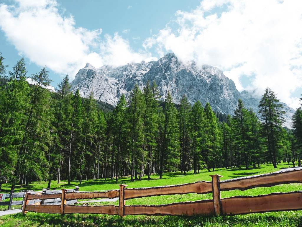 Zugspitze von Ehrwald aus
