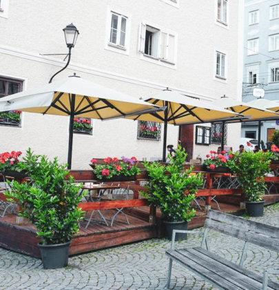 Gemütlich essen in der Salzburger Altstadt; Bio Restaurant Humboldtstubn