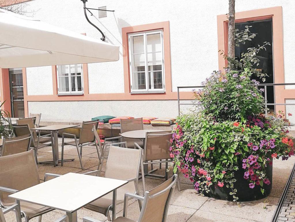 Innenhof MUS Café Museum