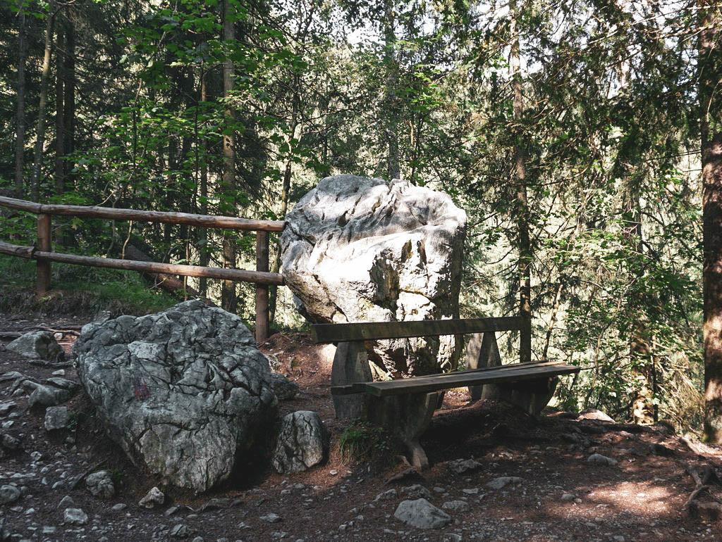 Sitzbank am Gollinger Wasserfall