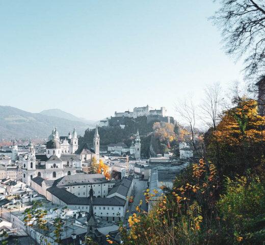 Bilder aus Salzburg; Herbstspaziergang über den Mönchsberg