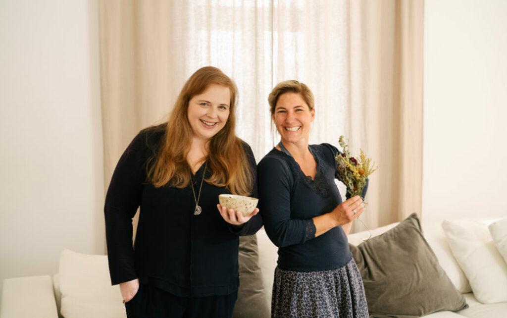 Karin Graf-Kaplaner und  Anja Fischer