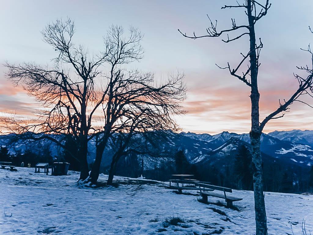 Gaisberg Sonnenaufgang im Winter